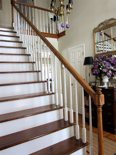 Staircase Makeover Ideas My Foyer Staircase Makeover Reveal In My Own Style