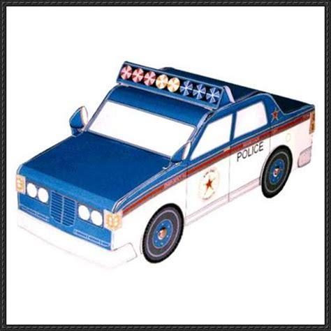 Patrol Car Paper Craft papercraft for car free paper