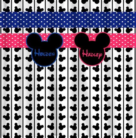 mickey and minnie mouse curtains reserve personalized custom shower curtains in mickey or