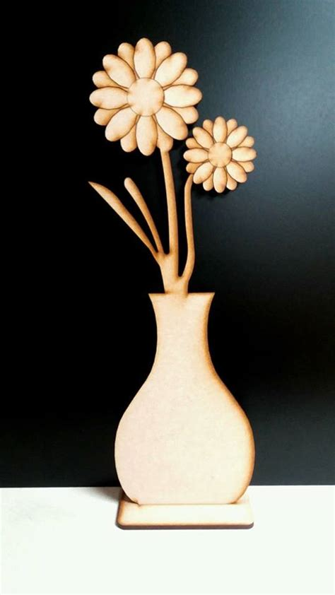 Flower Vase Stand by Flower Vase With Stand 34cm X 10cm Woodform Crafts