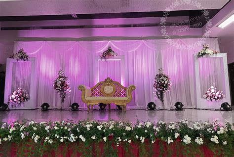 Decoration Reception by Wedding Reception Stage Decoration Events Organizer