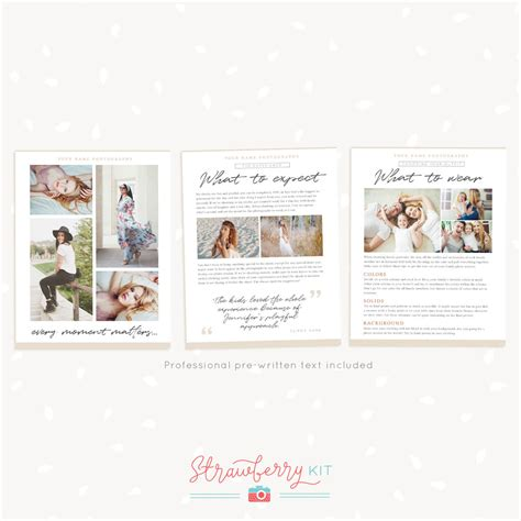 Welcome Guide Magazine Template Quot Classic Beige Quot Strawberry Kit Photoshop Magazine Template