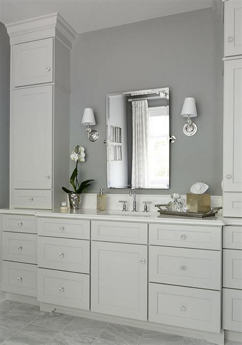 Grey Bathroom Cabinets Gray Shaker Bath Cabinets Design Ideas 17 Best Ideas About Grey Bathroom Cabinets On