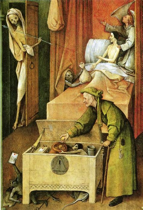 hieronymus bosch painter and death and the miser