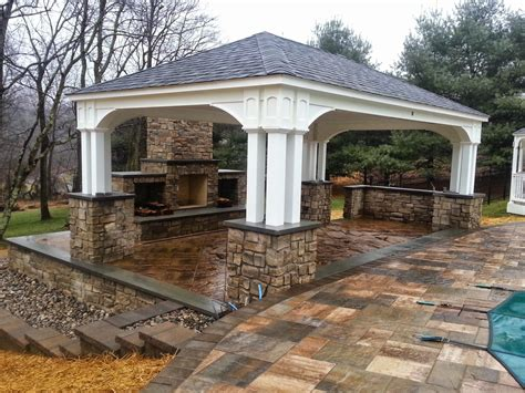 outdoor pavilions with fireplaces time pavers january 2015