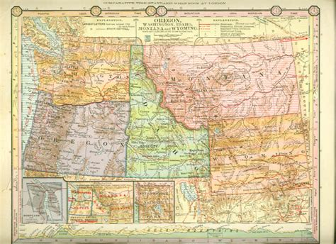 map of oregon mt montana wyoming map images frompo 1