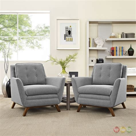 2 pc living room set mid century modern beguile 2pc fabric living room set