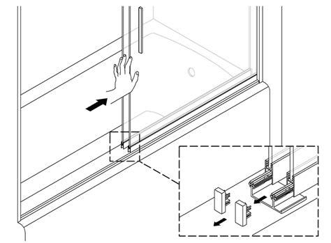 Levity 174 Bath Shower Door Center Guide Replacement Kohler Shower Door Replacement Parts