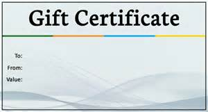 free business certificate templates 14 business gift certificate templates free sle