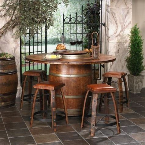 21 Modern Tables Enhancing Interior Design With Unique Wine Barrel Patio Table