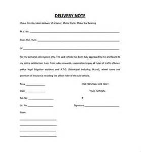 Letter Rejecting Used Car 9 Delivery Note Templates Free Sle Exle Format Free Premium Templates