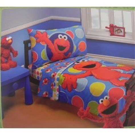 Elmo Toddler Bedding Set This Deals Sesame Elmo 4 Toddler Bedding Set This Deals