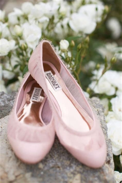 pink flat shoes wedding badgley mischka s dainty mesh flat wedding