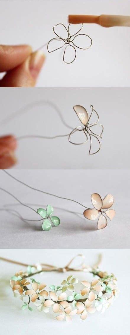 fiori con z fiori con smalto e filo argentato tutorial