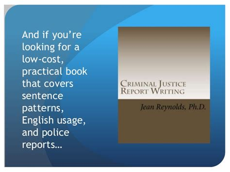 sentence patterns book professional sentence patterns for police reports part i