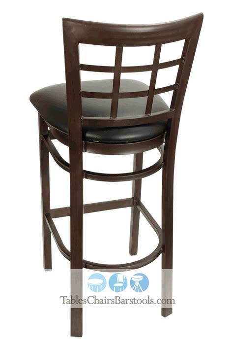 east coast bar stool gladiator rustic brown ladder back gladiator rustic brown powder coat window pane bar stool w