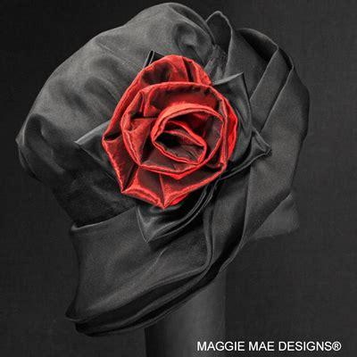 mae design marylou der208 004 black silk organza cloche hat by maggie