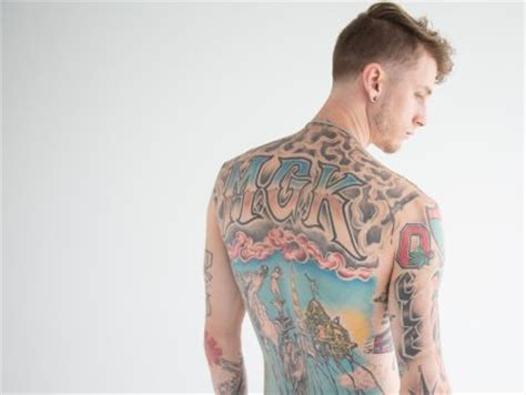 mgk back tattoo tour the late tattoos of machine gun