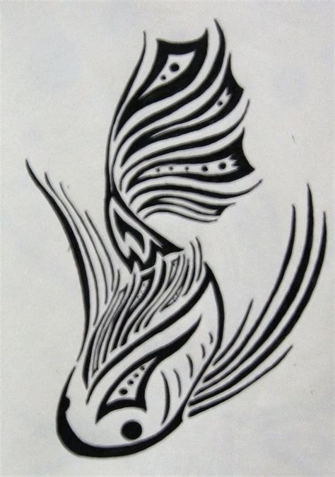 fish tribal tattoos tribal koi fish tattoos tribal koi by silveraquila