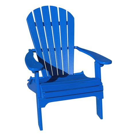 Blue Patio Chairs Shop Marina Blue Recycled Poly Folding Patio Adirondack Chair At Lowes