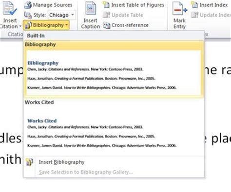 Creating A Bibliography by How To Create A Bibliography Using Word Scribendi