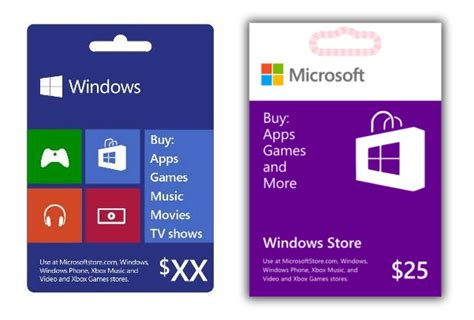 Gift Card Microsoft - microsoft windows gift cards get redesigned before launch winsource