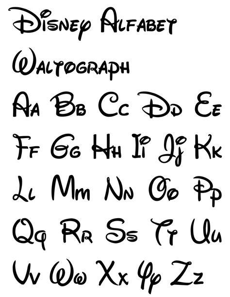 lettere alfabeto disney disney font waltograph fonts bullet