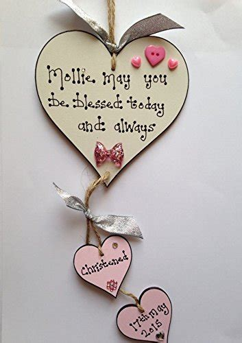 Handmade Baby Gifts Uk - baby wooden christening plaque gift