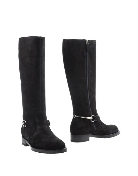black gucci boots for gucci boots in black lyst