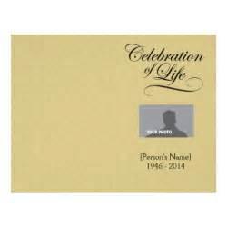 celebration of life memorial program gold damask flyer