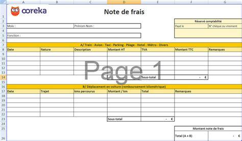 Modele Note De Frais