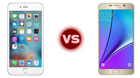 apple iphone 6s plus vs galaxy note 5 specs and features