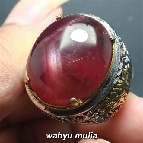 Cincin Cewe Batu Merah Delima 8 cincin batu ruby merah delima asli kode 906