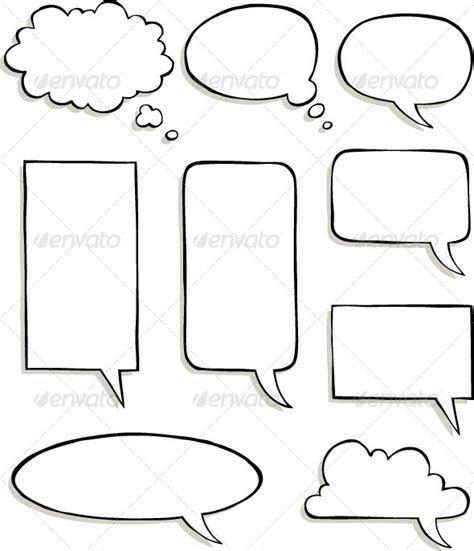 comic strip template with speech bubbles 187 tinkytyler org