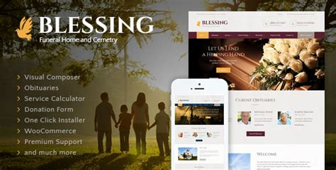 live home themes blessing funeral home wordpress theme themeforest