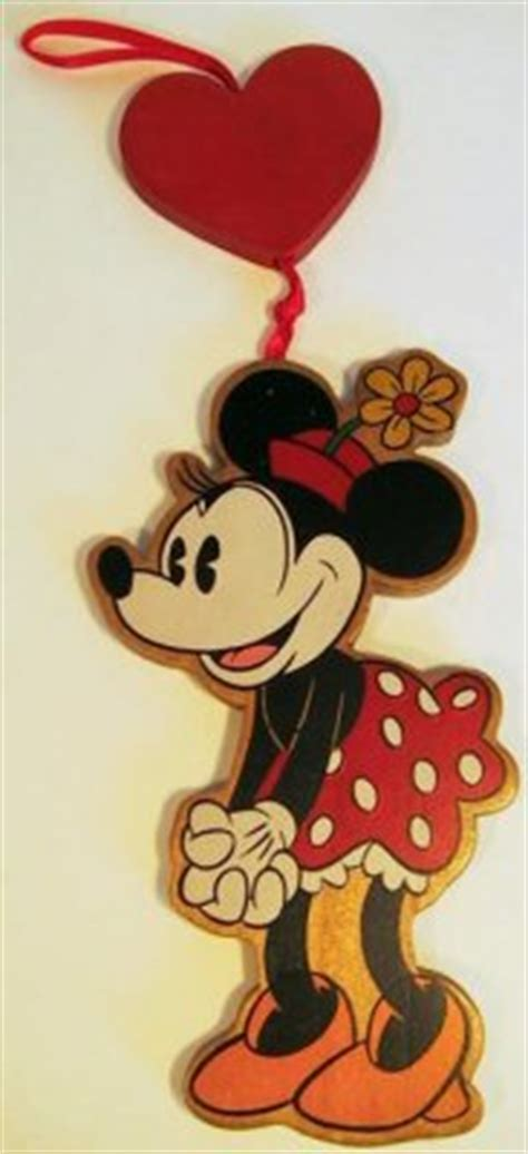 2 sided minnie mouse wooden ornament from our