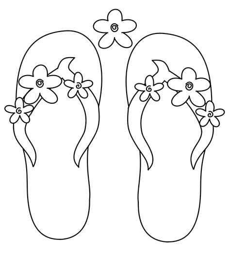 Flip Flop Coloring Pages scribbles designs f 36 flower flip flops free