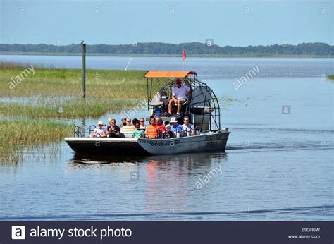 airboat near kissimmee boggy creek airboat ride on west lake toho at southport