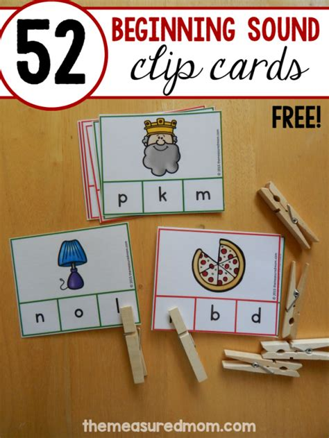 beginning card 52 free cards for teaching letter sounds the measured