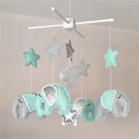 Baby Boy Crib Mobile by Baby Mobile Elephant Mobile Cot Mobile Baby Boy Mobile