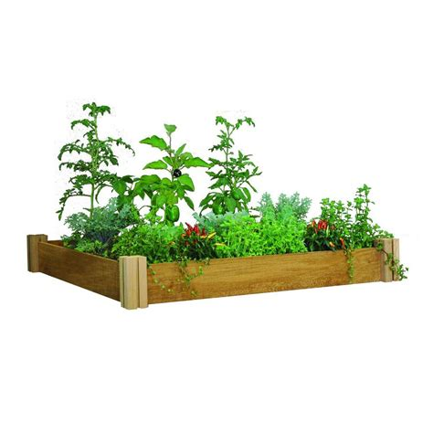 Raised Garden Beds Home Depot by Gronomics 48 In X 48 In X 6 5 In Modular Raised Garden