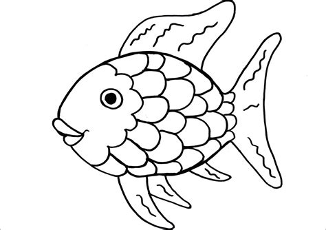 coloring book page template rainbow fish coloring page printable coloring page kids
