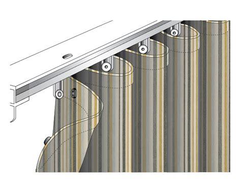 Roll Pleat Drapery Sunbrella Canvas Stripe Ripplefold Drapes Plumridge Silk