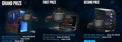 Newegg Giveaway 2016 - newegg gaming computer virtual reality headset giveaway 3 winners 1 entry