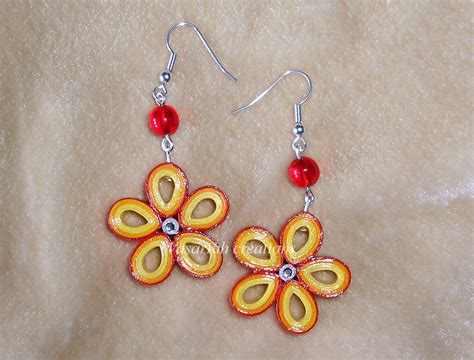 paper quilled flower earrings tutorial quilling flowers earrings by ombryb on deviantart