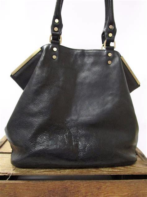 Minimalist Shoulder Bag Import Bg712 kenneth cole chic classic black leather large minimalist tote bag shoulder purse ebay