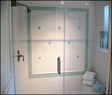 small mosaic tiles for small bathrooms white joy studio 3 x6 shower all white tile with iridescent mosaic accents