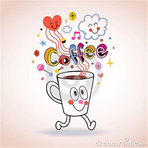 cartoon coffee cup illustration stock photo image