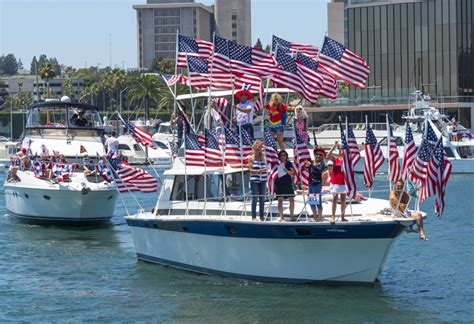 old glory boat parade newport beach local news newport celebrates fourth of july