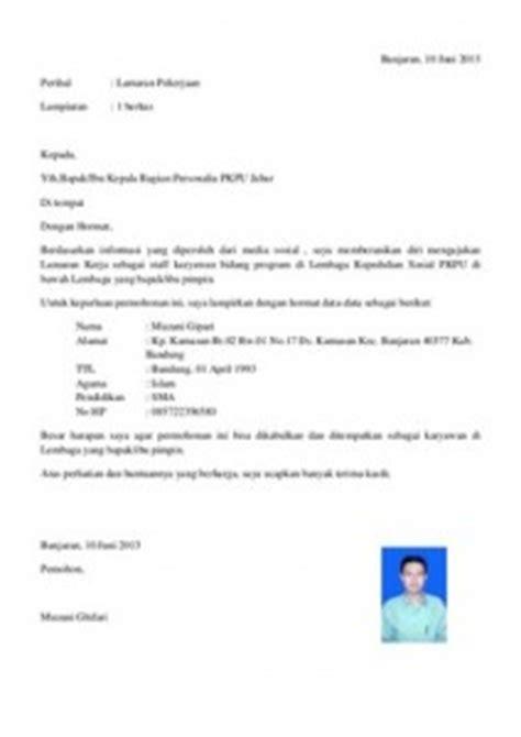 Contoh Kop Surat Lamaran Pekerjaan by 99 Contoh Surat Lamaran Kerja Yang Baik Dan Benar